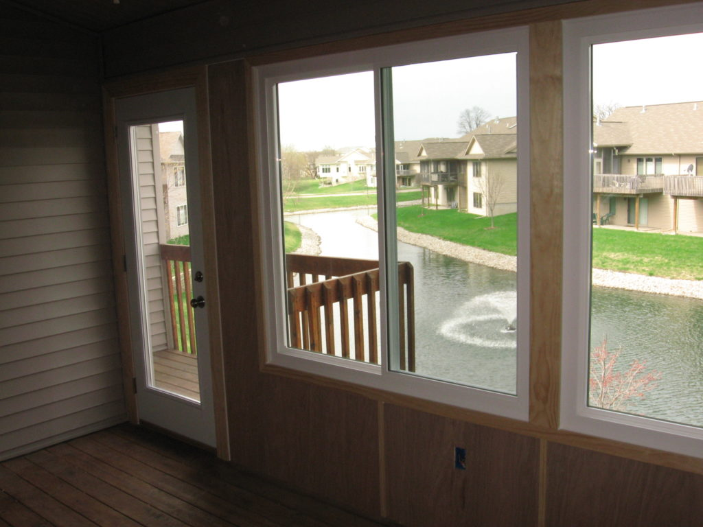 4-season porch with insulated sliding windows