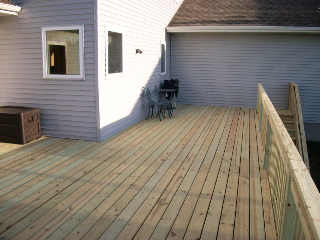 Wood Deck Home Exterior